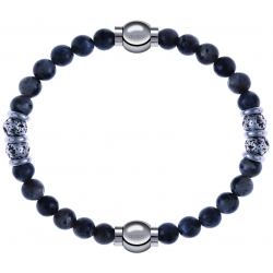 Apollon - Collection MiX - bracelet combinable sodalite 6mm - 10cm + sodalite 6mm - 10cm