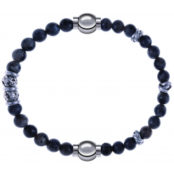 Apollon - Collection MiX - bracelet combinable sodalite 6mm - 10cm + labradorite 6mm - 10cm