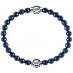 Apollon - Collection MiX - bracelet combinable hématite 6mm - 10,25cm + hématite 6mm - 10,25cm