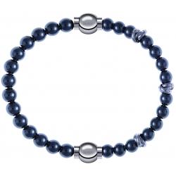 Apollon - Collection MiX - bracelet combinable hématite 6mm - 10,25cm + hématite 6mm - 10cm