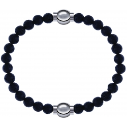 Apollon - Collection MiX - bracelet combinable pierre de lave 6mm - 10,25cm + pierre de lave 6mm - 10,25cm