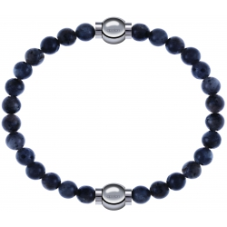 Apollon - Collection MiX - bracelet combinable labradorite 6mm - 10,25cm + labradorite 6mm - 10,25cm