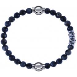 Apollon - Collection MiX - bracelet combinable labradorite 6mm - 10,25cm + sodalite 6mm - 10cm