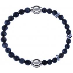 Apollon - Collection MiX - bracelet combinable labradorite 6mm - 10,25cm + labradorite 6mm - 10cm