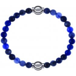 Apollon - Collection MiX - bracelet combinable sodalite 6mm - 10,25cm + sodalite 6mm - 10,25cm