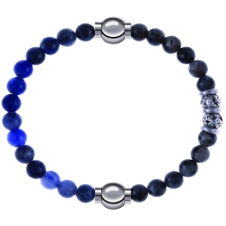 Apollon - Collection MiX - bracelet combinable sodalite 6mm - 10,25cm + sodalite 6mm - 10cm