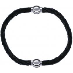 Apollon - Collection MiX - bracelet combinable cuir tressé italien vert - 10,5cm + cuir tressé italien vert - 10,5cm