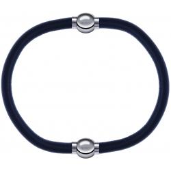 Apollon - Collection MiX - bracelet combinable cuir italien gris - 10,25cm + cuir italien gris - 10,25cm