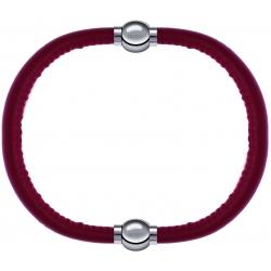 Apollon - Collection MiX - bracelet combinable cuir italien rouge - 10,25cm + cuir italien rouge - 10,25cm