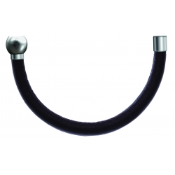 Apollon - Collection MiX - Moitié - cuir italien marron foncé - diamètre 5mm - longueur 10,25cm