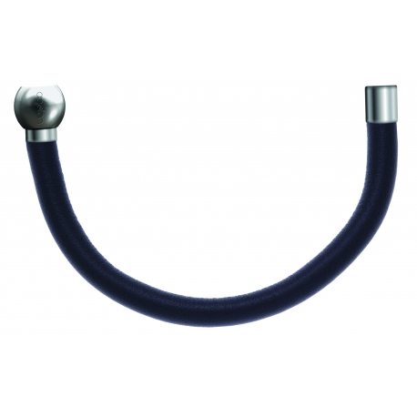Bracelet combinable - Moitié - cuir italien gris - diamètre 5mm - longueur 10,25cm