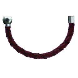 Apollon - Collection MiX - Moitié - cuir tressé italien marron - diamètre 5mm - longueur 10,5cm