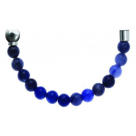 Bracelet combinable - Moitié - sodalite 6mm - longueur 10,25cm