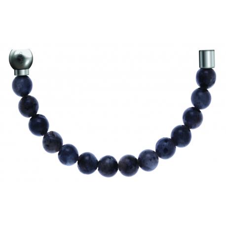 Bracelet combinable - Moitié - labradorite 6mm - longueur 10,25cm