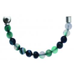 Bracelet combinable - Moitié - agate indienne 6mm - longueur 10,25cm
