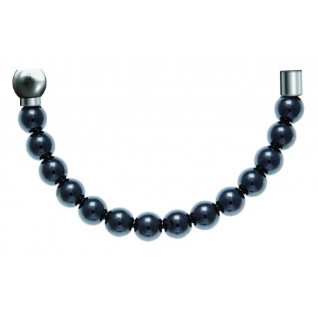 Bracelet combinable - Moitié - hématite 6mm - longueur 10,25cm