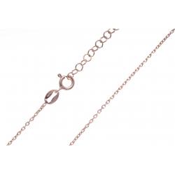 Chaîne argent rosé 2,4g - maille forçat - 40+5cm
