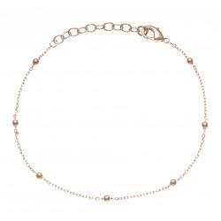 Bracelet plaqué or - boules - 17+3cm