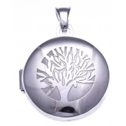 Pendentif ouvrant argent rhodié 6,9g - arbre de vie - diamètre 2,5cm