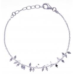Bracelet argent rhodié 1,9g - 17+3cm