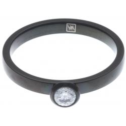 Anneau interne SCREW - acier noir - zircon - 2,5mm - T 55 à 65