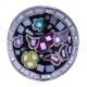Bague en acier - papillon - nacre - émail - T52 à T62