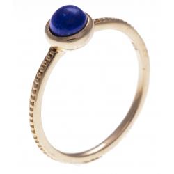Bague argent rosé 1,8g - lapis lazuli - T50 à 60
