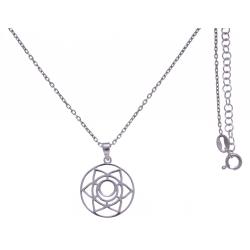 Collier argent rhodié 4,1g - chakra sacré - 38+5cm