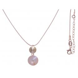 Collier argent rosé 3,9g  - cristaux de swarovski - couleur ivoire  - 40+5cm