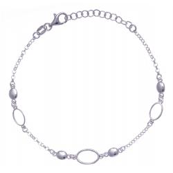 Bracelet argent rhodié  3,3g - 17+3cm