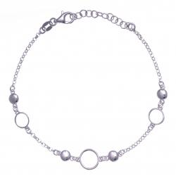 Bracelet argent rhodié 3,2g - 17+3cm