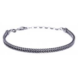 Bracelet argent veilli 10g - largeur 5cm - longueur 19+4cm