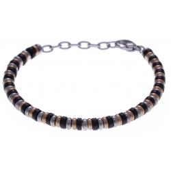 Bracelet acier 3 tons - 19+3cm