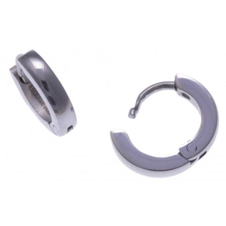 Créoles acier  - diamètre 1cm