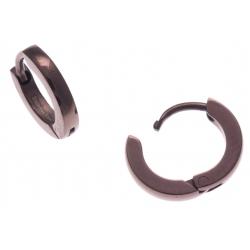 Créoles acier café  - diamètre 1cm