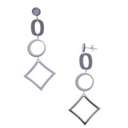 Boucles d'oreille en acier - heuteur7cm