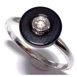 Bagues argent bague argent rhodié 1,6g onyx t 50 à 60 et zircon