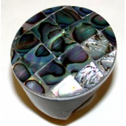 Bague fantaisie bois abalone