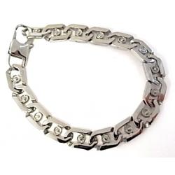 bracelet acier 21cm