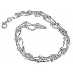 Bracelet argent 5g 18,5cm 3 rangs