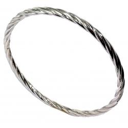 Bracelet argent 7,5g torsad