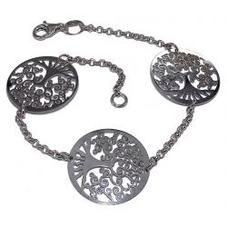 Bracelet argent rhodié 3,8g 18,5cm