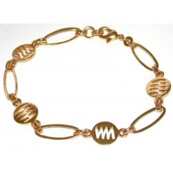 Bracelet plaqué or 3 microns 19cm