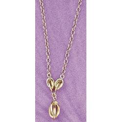 collier plaqué or 42cm