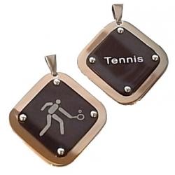 pendentif acier tennis