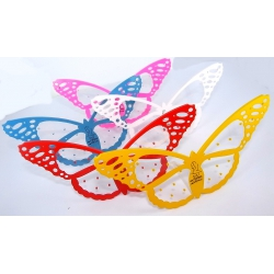 Lot de 5 présentoirs papillon 5 couleurs
