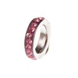 """Pendentif argent rhodié 0,3g """"anneau rose"""""""