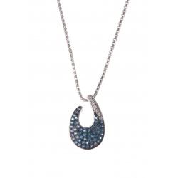 Collier argent rhodié 3,2g crystal 40 cm