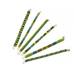 Lot de 6 bracelets perles multicolores 3x4 rangs - 2x5 rangs - 1x6rangs