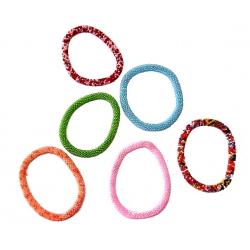 Lot de 6 bracelets élastiques multicolores